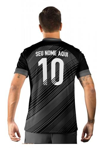 Camisa Ultimate Team Fut 18 Black Friday Preta