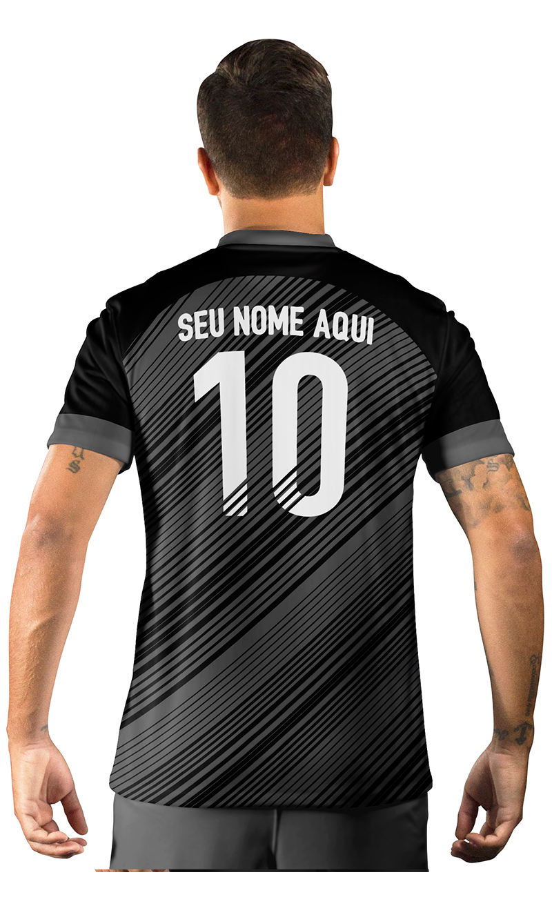 Camisa Ultimate Team Fut 18 Black Friday Preta