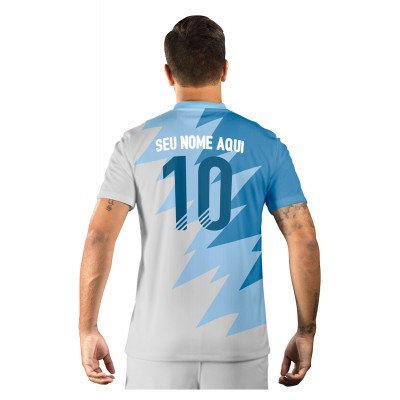 Camisa Ultimate Team Fut 18 Futties Azul e Branco