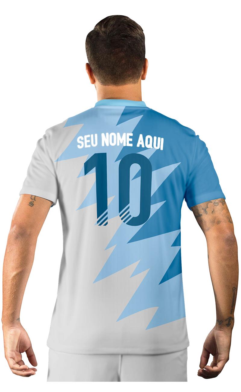 Camisa Ultimate Team Fut 18 Futties Azul e Branco
