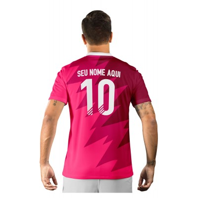 Camisa Ultimate Team Fut 18 Futties Rosa e Bordo
