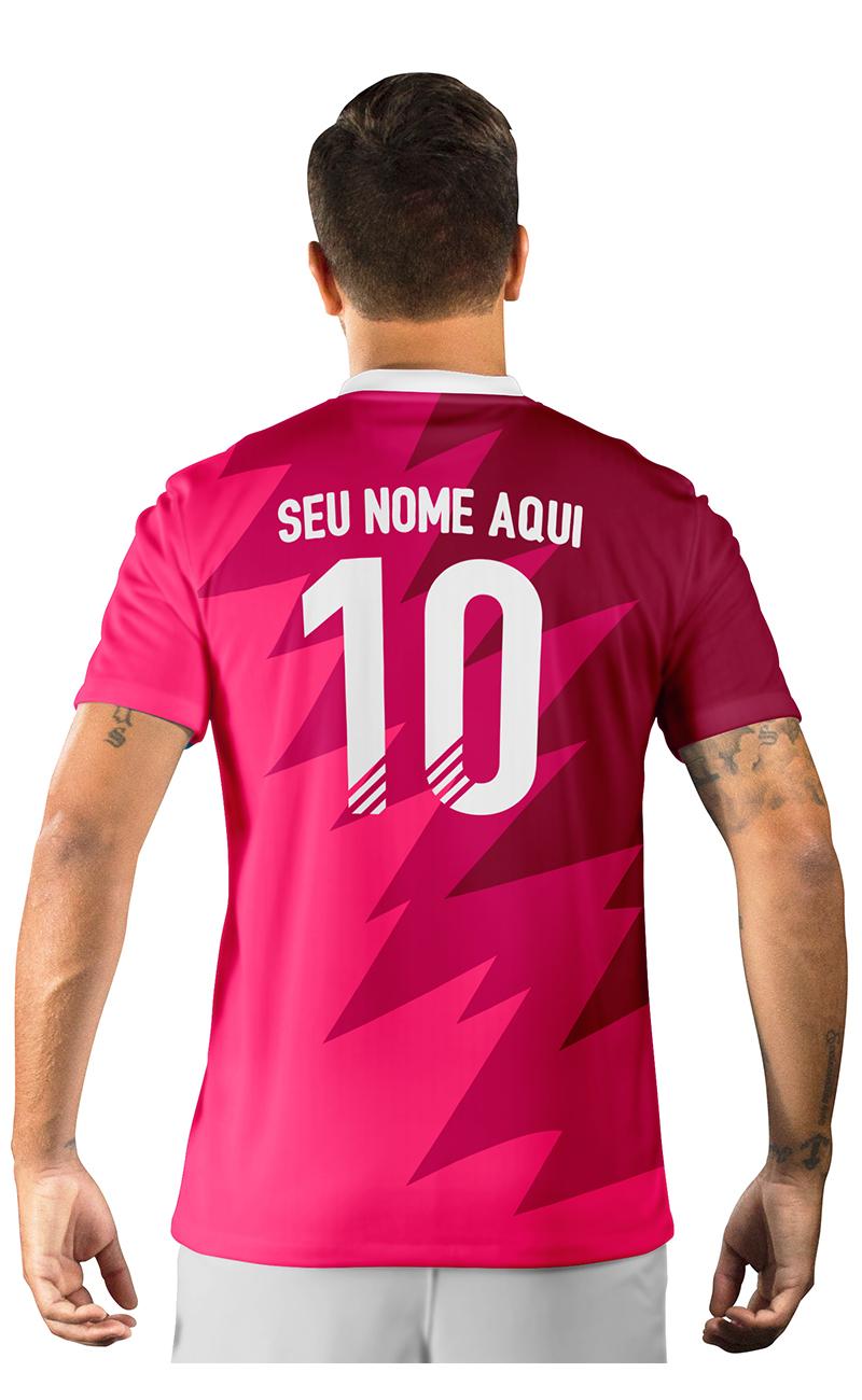 Camisa Ultimate Team Fut 18 Futties Rosa e Bordo