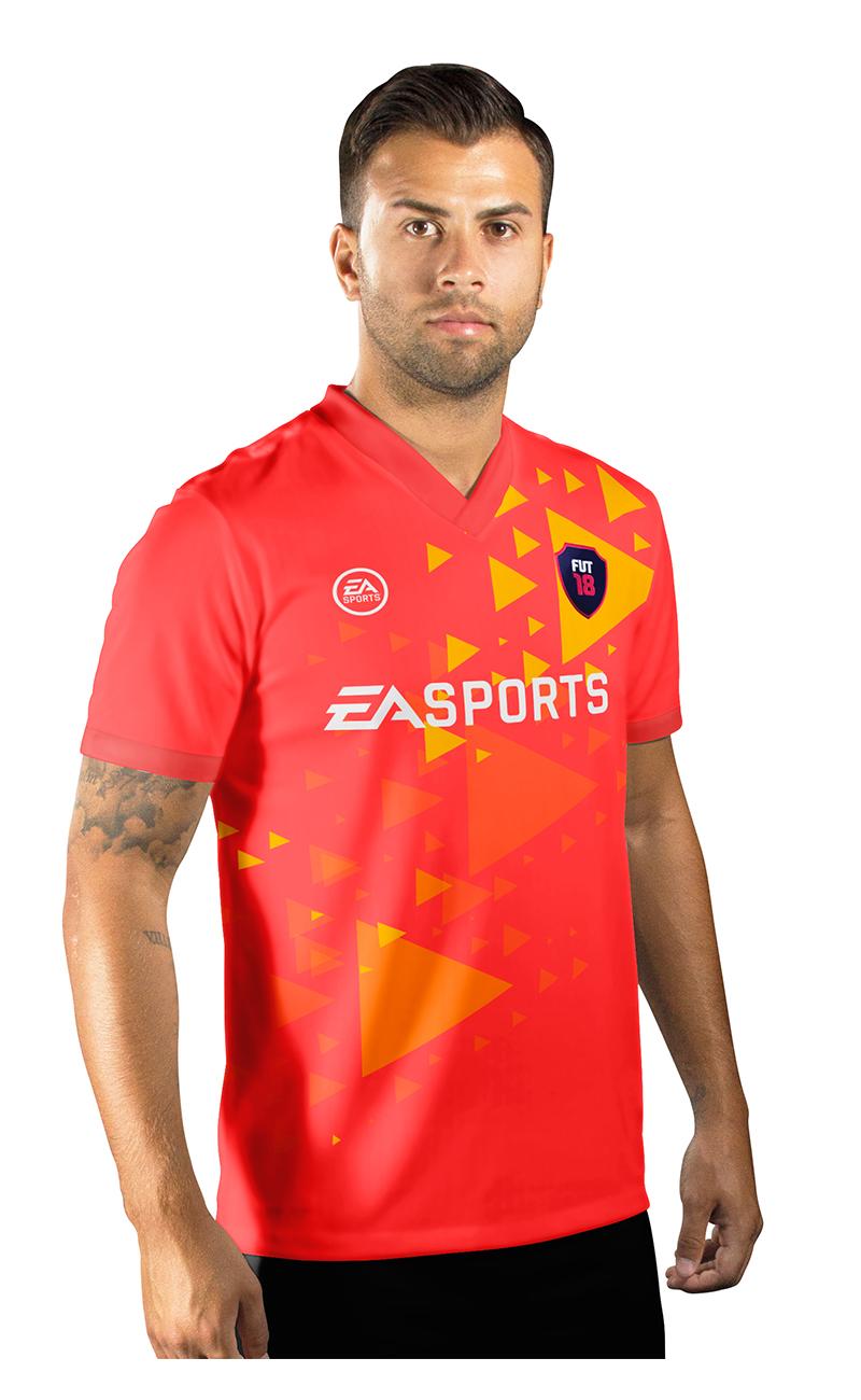 Camisa Ultimate Team Fut 18 Arrows Laranja e Amarela