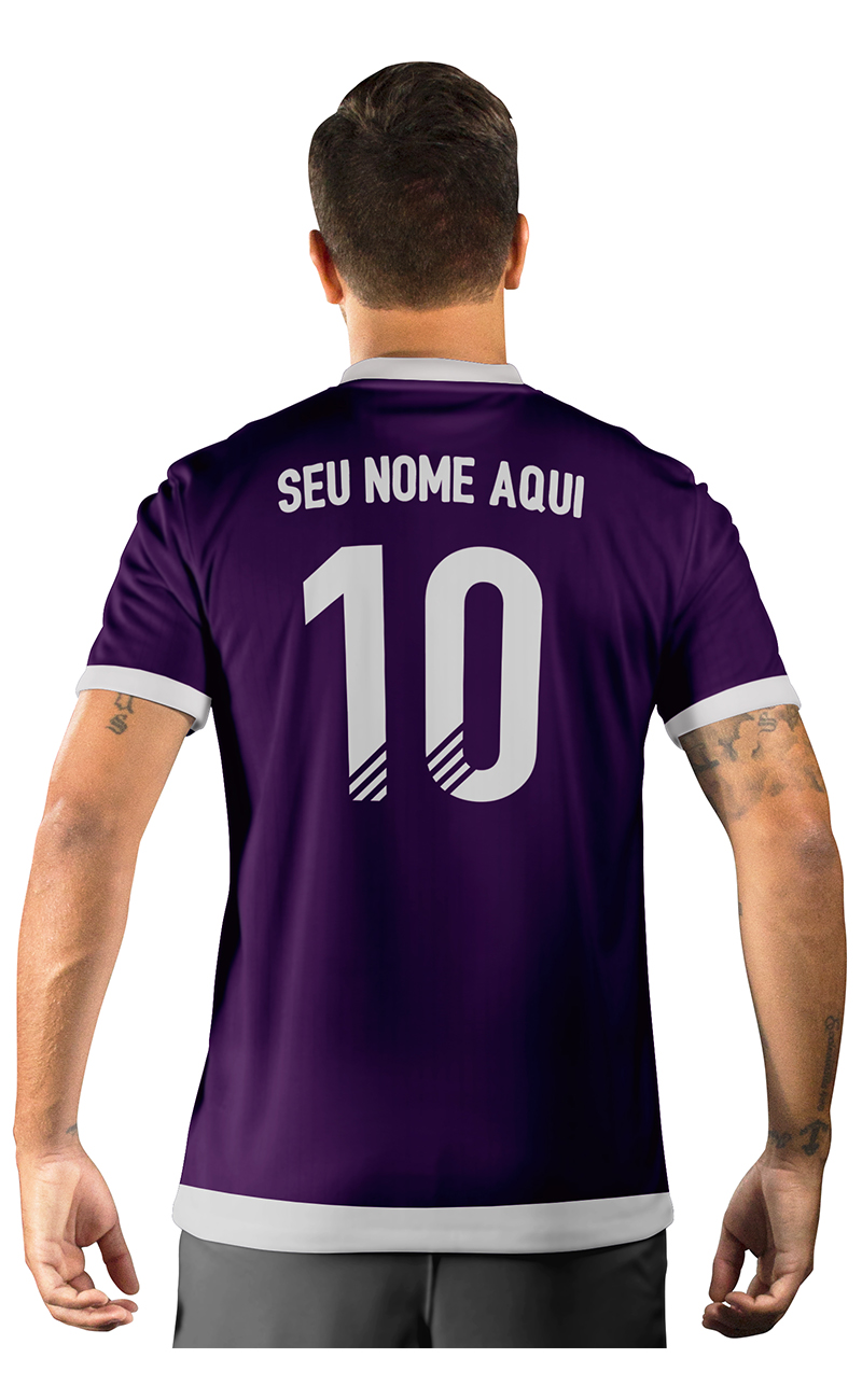 Camisa Ultimate Team Fut 18 Arrows Roxa e Azul