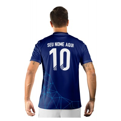 Camisa Ultimate Team Fut 18 Territories Azul Escuro