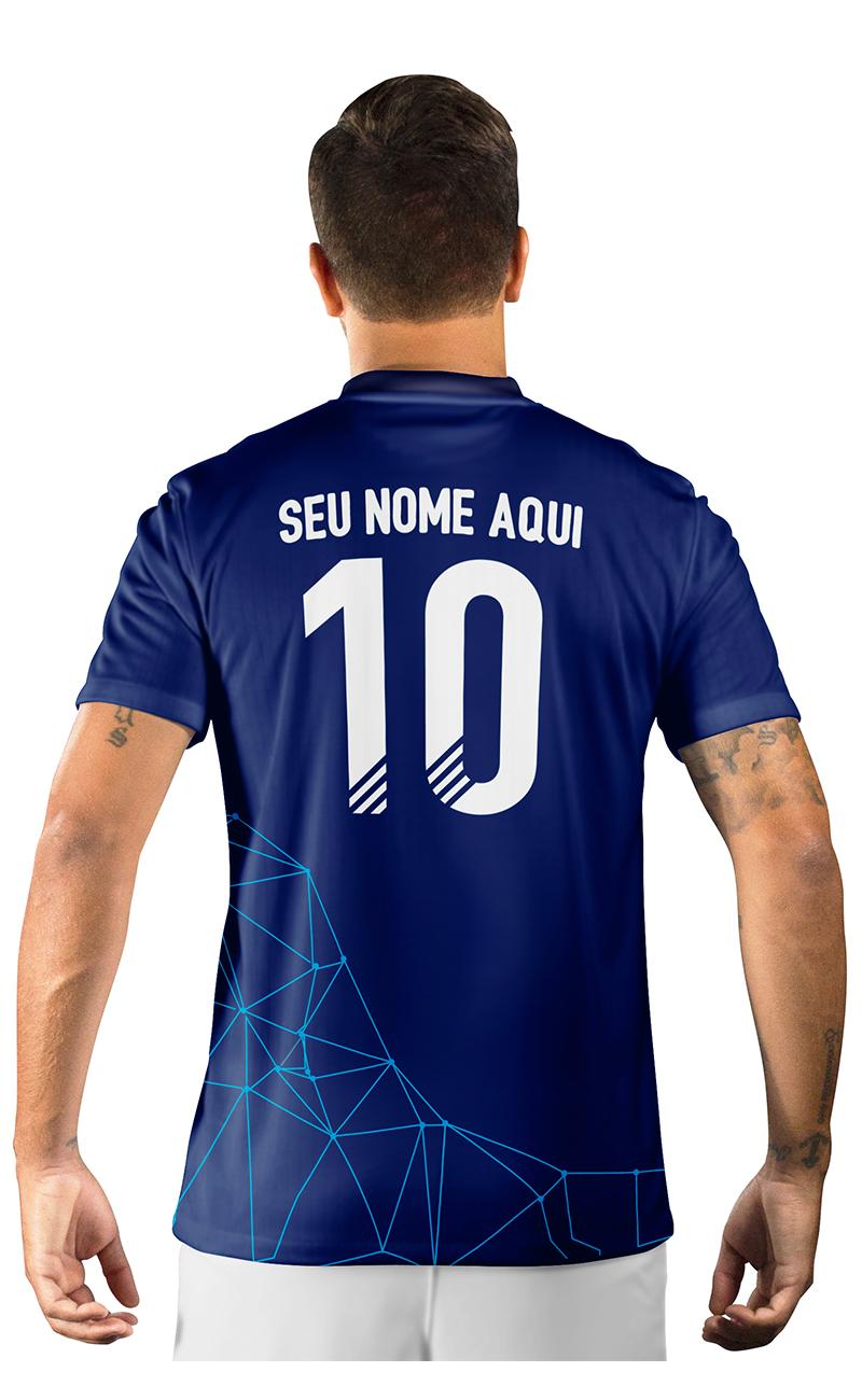 Camisa Ultimate Team Fut 18 Territories Azul Escuro