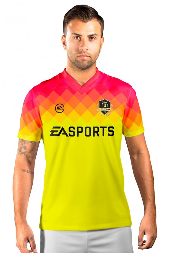 Camisa Fut Champions Ultimate Team FIFA 17 Amarela degradê