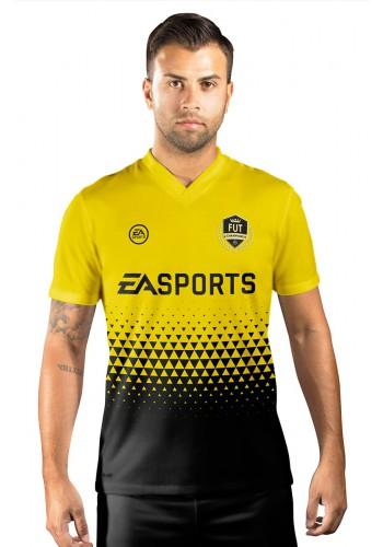 Camisa Fut Champions Ultimate Team FIFA 17 Amarela e Preta