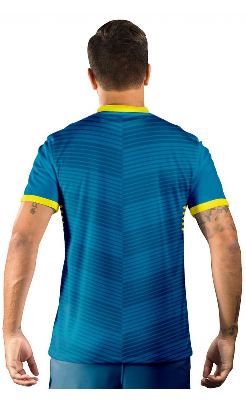 Camisa Ultimate Team FIFA 17 Azul com Detalhe em Amarelo