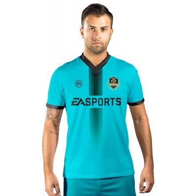Camisa Fut Champions Ultimate Team FIFA 17 Azul Claro com Detalhe em Preto