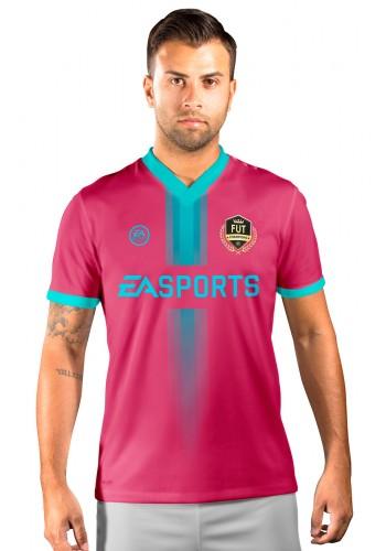 Camisa Fut Champions Ultimate Team FIFA 17 Bordo com Detalhe em Azul claro