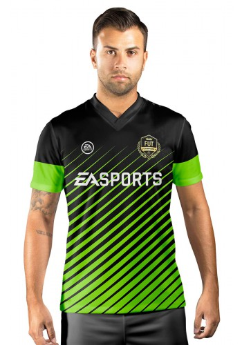 Camisa Fut Champions Ultimate Team FIFA 17 Preta e Verde Florescente
