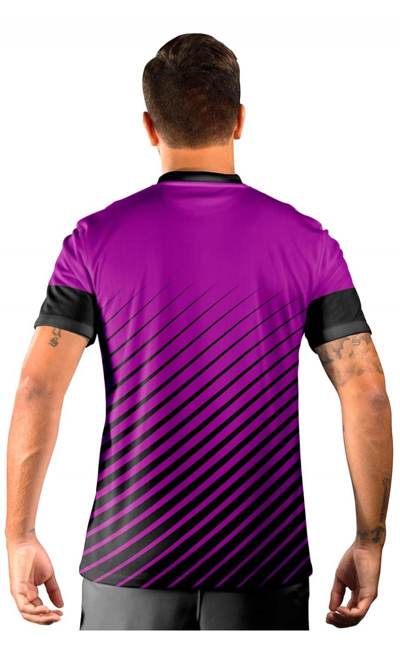 Camisa Fut Champions Ultimate Team FIFA 17 Roxa e Preta