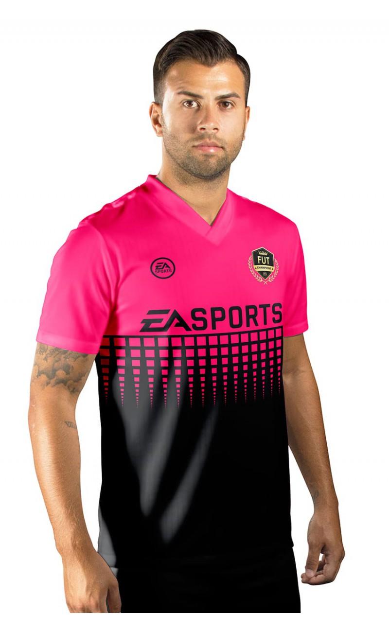 Camisa Fut Champions Ultimate Team FIFA 17 Rosa e Preta