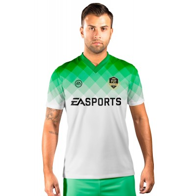 Camisa Fut Champions Ultimate Team FIFA 17 Verde e Branco degradê