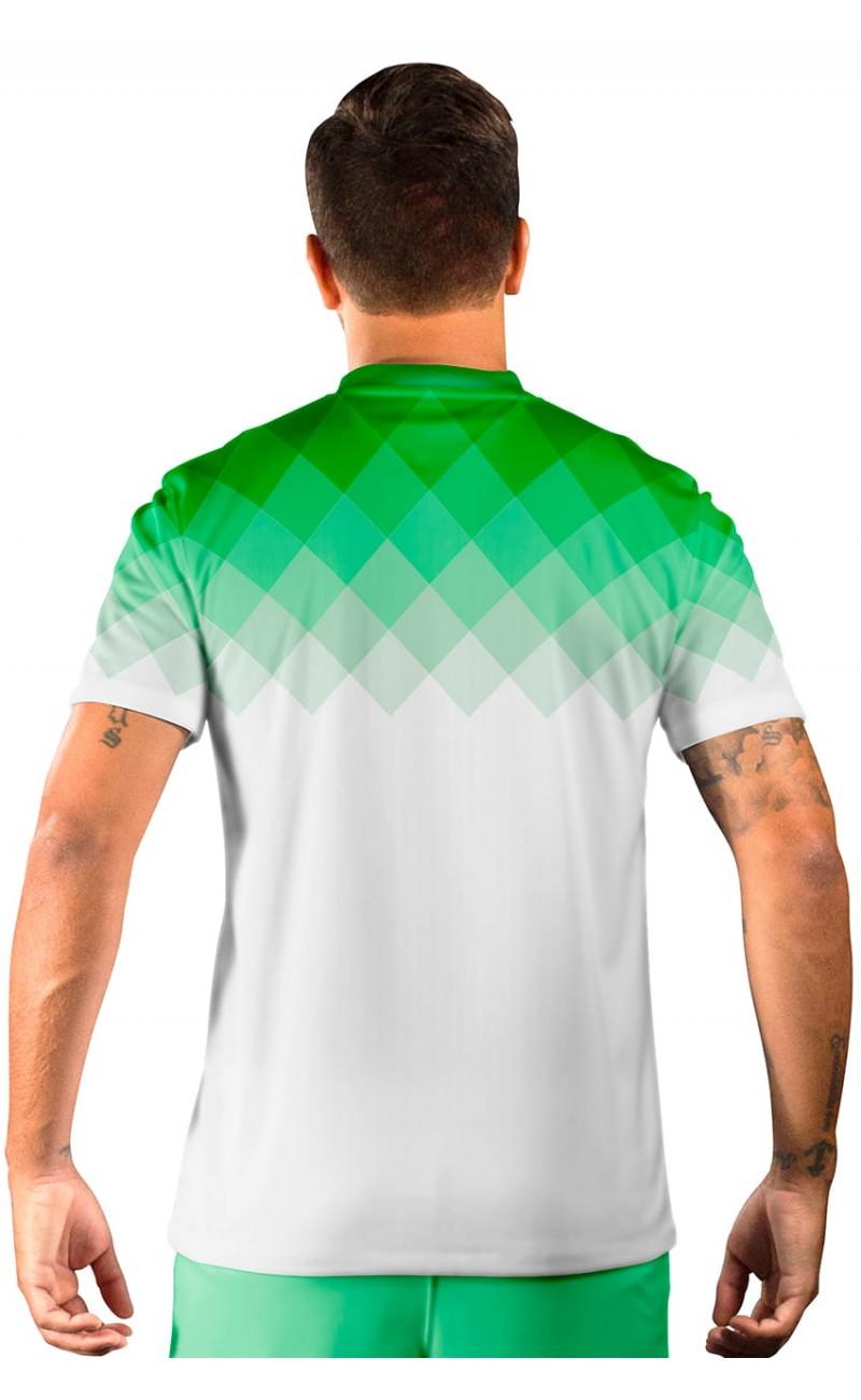 Camisa Fut Champions Ultimate Team FIFA 17 Verde e Branco degradê