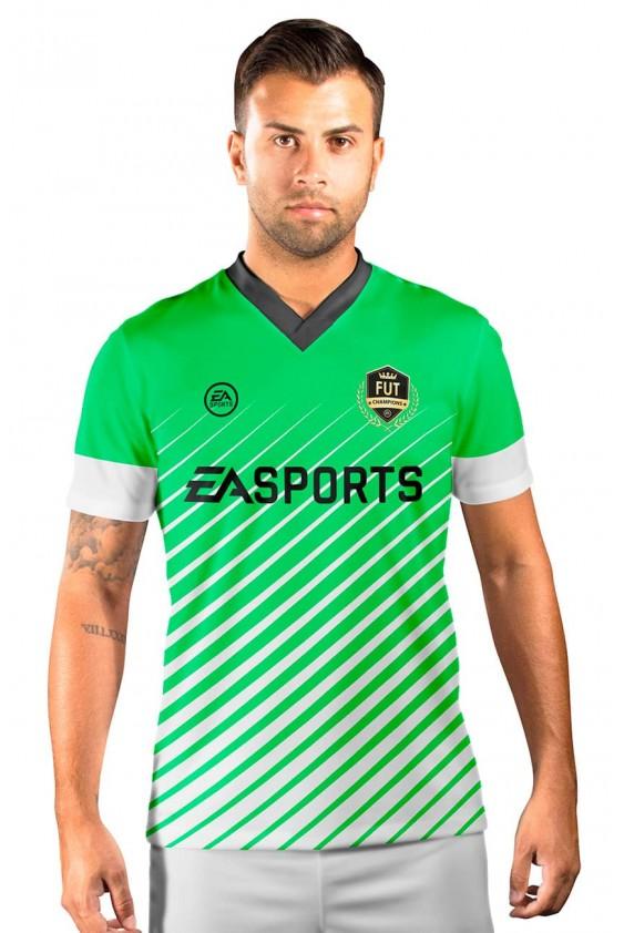 Camisa Fut Champions Ultimate Team FIFA 17 Verde e Branca