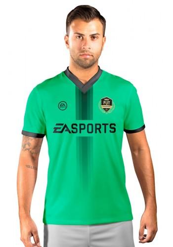 Camisa Fut Champions Ultimate Team FIFA 17 Verde com Detalhe em Preto