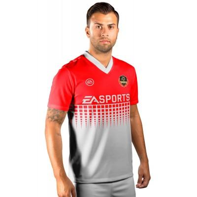 Camisa Fut Champions Ultimate Team FIFA 17 Vermelha e Branca