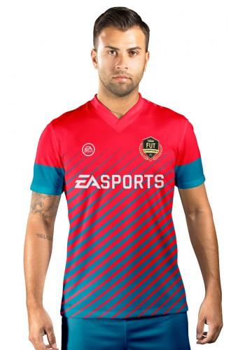 Camisa Fut Champions Ultimate Team FIFA 17 Vermelha e Azul